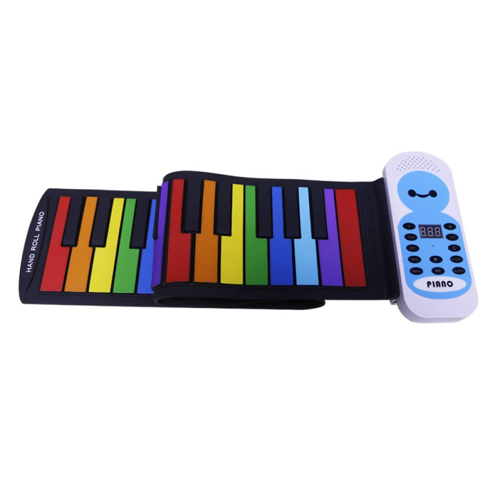 YIHANGG Hand Roll Piano 37 Keys Mobile Portable Children Beginner Adult Simple Home Keyboard Folding Keyboard