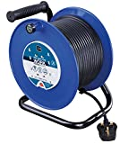 masterplug HDCC4013/4BL-MP 40 m 13 A 4 Socket Open Cable Reel - Blue