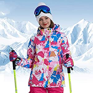Women's Thick Colourful Waterproof Ski Jacket, Ski Suit Female Snowboard Snowear Outdoor Alecks Winter Coat Shirt