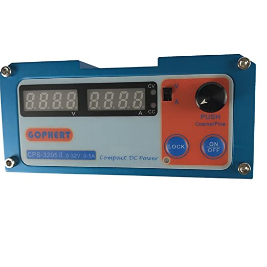 guangshun Compact DC Power Supply 0-32V 0-5A AC110-240V Digital Display with Lock Button: Amazon.com: Industrial & Scientific