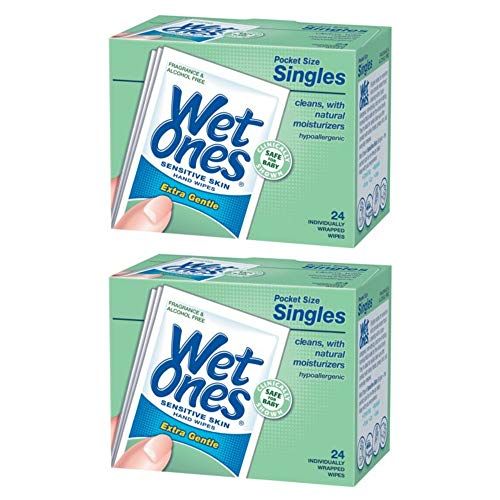 Wet Ones Sensitive Skin Hand Wipes Individually Wrapped Singles - 24 Count, 2 ()