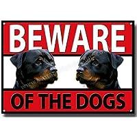 Vintage Sign Designs Cuidado con el Perros Rottweilers