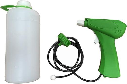 HYF Pulverizador de a Pilas, excelente pulverizador para fumigar Las Plantas del jardín o la Huerta con herbicida, Capacidad 1 L, Muy práctico para Uso en la Limpieza del hogar, Cristales, encimeras.: