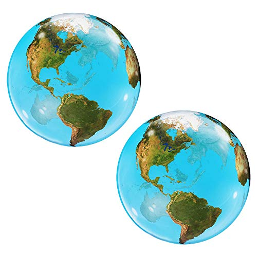 Set of 2 Planet Earth Globe Jumbo 22