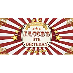 Vintage Circus Birthday Party Banner Carnival Theme Big Top and Fair Birthday Party Wall Decoration for Any Age Cirque Birthday Party Concept Handmade Party Supply Poster Print