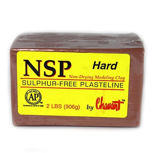 Chavant NSP HARD - 2 Lbs. Professional Oil Based Sulfur Free Sculpting Clay - Brown