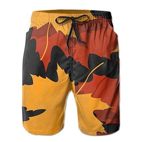Maple Leaf Concise Swim Trunk Guys Polo Boardshort Swimmingbeach - Vancouver Mens Swimwear