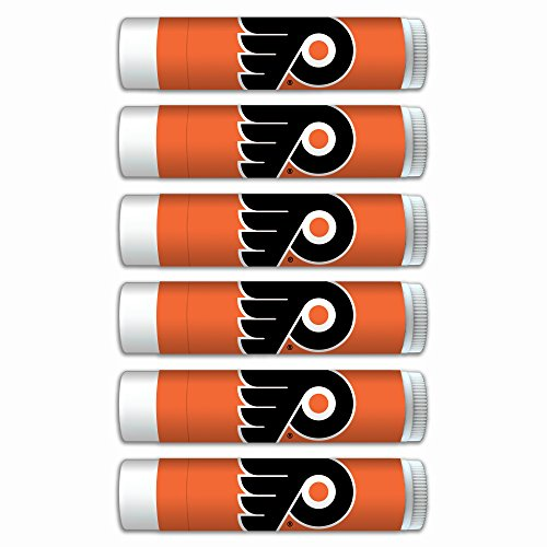 Sheer Balm 15 Spf Lip (Philadelphia Flyers Smooth Mint Lip Balm 6-PACK with SPF 15, Beeswax, Coconut Oil, Aloe Vera. NHL gifts for Valentine's Day, Easter, Mother's Day, Father's Day, stocking stuffers.)