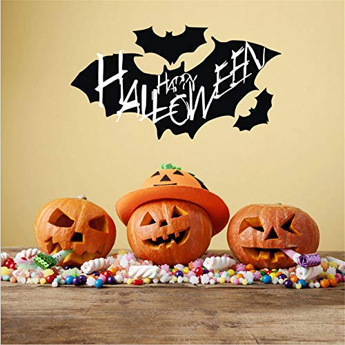Linker Wish Bat Wall Stickers Happy Halloween Wall Sticker Bat Wall Poster Living Room TV Sofa Background Wall