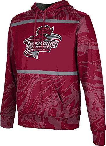 ProSphere Ramapo College of New Jersey Men's Pullover Hoodie, School Spirit Sweatshirt (Ripple) FCF72 Red and Gray
