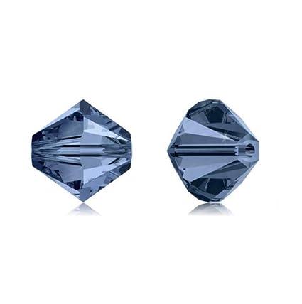 327de1829 Amazon.com: 100pcs 4mm Adabele Austrian Bicone Crystal Beads Dark Indigo  Compatible with Swarovski Crystals Preciosa 5301/5328 SSB420: Everything  Else