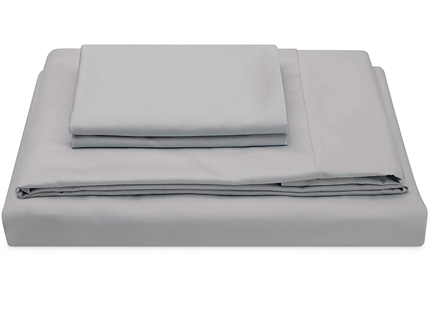 Molecule Luxury Bed Sheets Set Sateen Weave Made with Cotton and Tencel Blended Breathable Fabric for a Cooling, Silky Feel