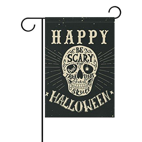 U LIFE Decorative Happy Halloween Scary Skull Garden
