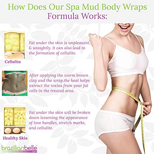 Brazilian Body Wraps - Spa Mud Home Treatment Kit for Women Slimming Home Spa Treatment for Cellulite, Weight Loss, Stretch Marks by Brazilian Belle (Image #3)