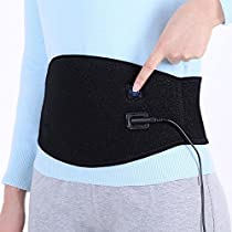 Waist Heating Belt, Back Heat Wrap Pad, Hot Compress Therapy for Lower Back Pain Relief, Abdomen Menstrual Cramps, 1 Button Control 3 Heat-settings with 6.6ft Cord, Washable, Women Men
