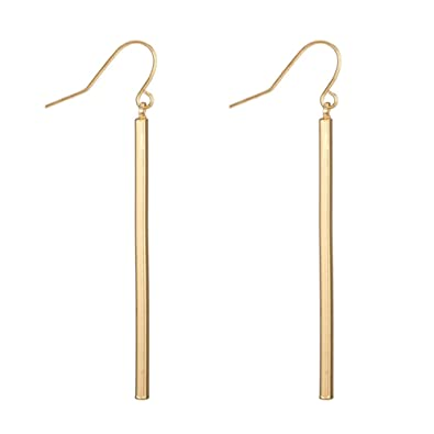 a2a718364ec0e Punk Simple Style Gold/Silver Plated Lightning Long Exaggerated Square  Geometric Stick Drop Dangle Earring For Women Jewelry