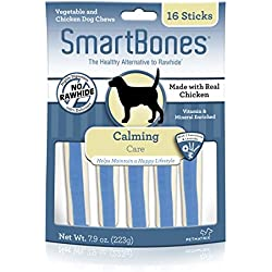 Smartbone Calming Care Sticks for Dogs, Rawhide-Free