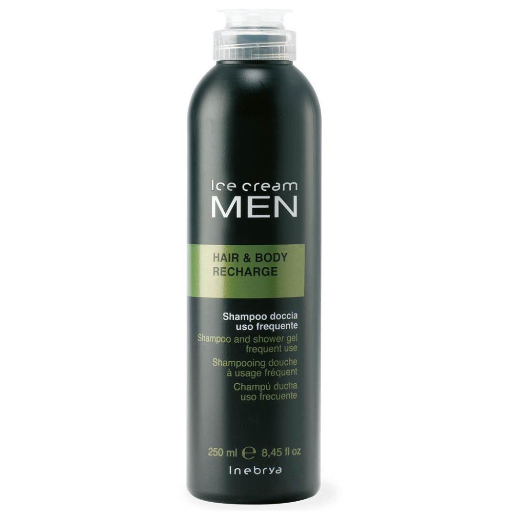 Amazon.com  Inebrya Ice Cream Men Hair   Body Recharge Shampoo and Shower  Gel Frequent Use 8.45 Oz  Health   Personal Care 446ea14de2fe