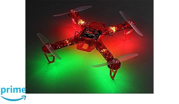 HK FPV250 V4 Red Ghost Edition LED Night Flyer FPV Drone - Rojo ...