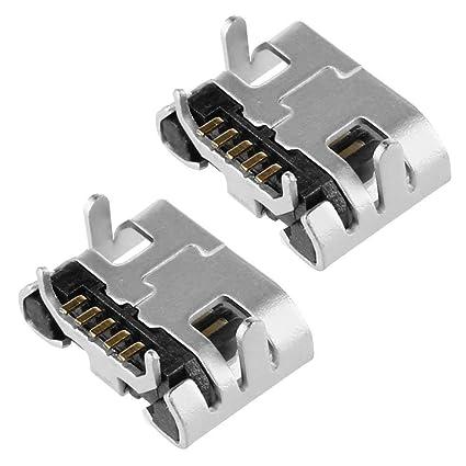Ociodual 2X Conector Micro USB Tipo B 5 Pines Hembra Female Soldar Recambio Reemplazo