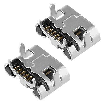 Ociodual 2X Conector Micro USB Tipo B 5 Pines Hembra Female Soldar Recambio Reemplazo: Amazon.es: Electrónica
