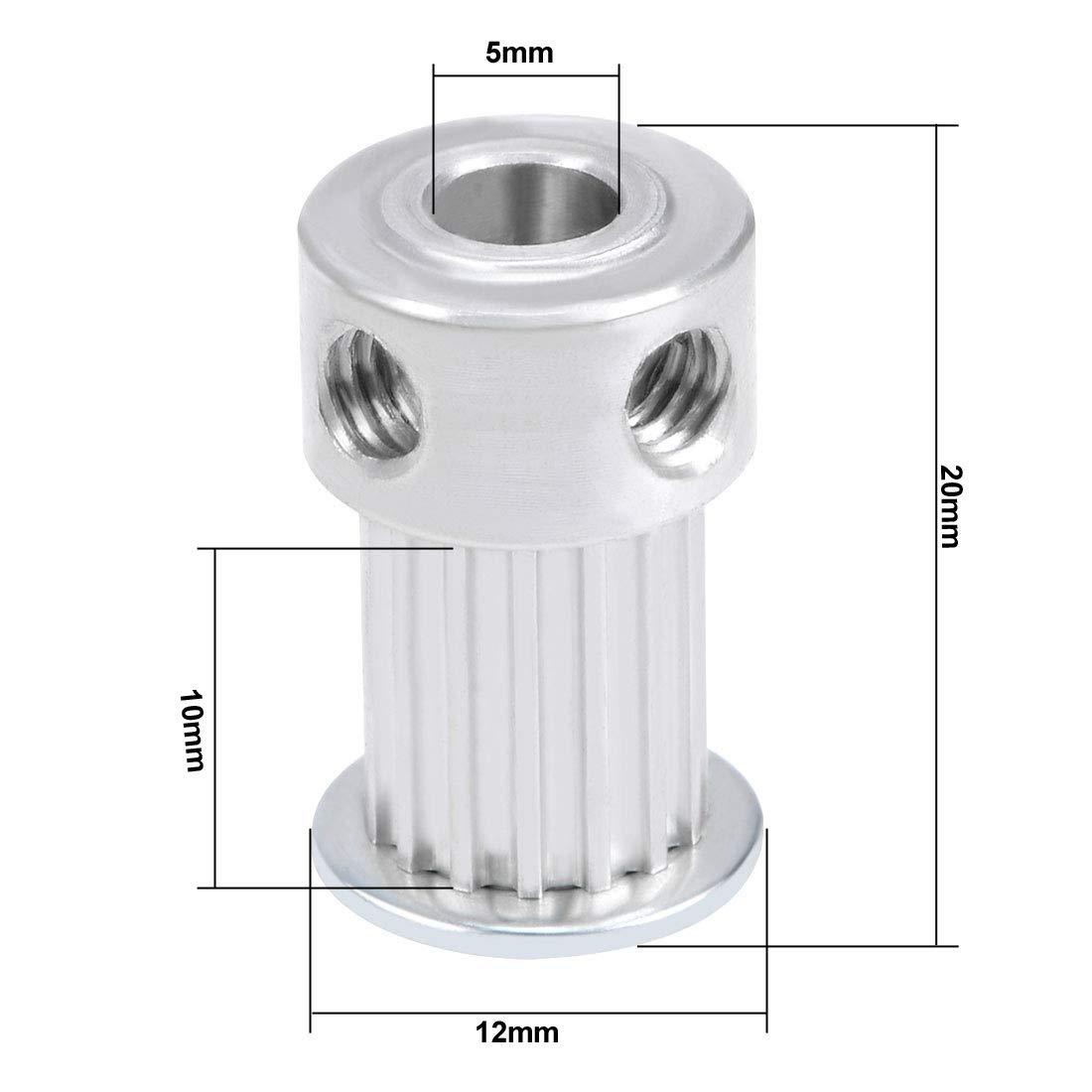 sourcing map Aluminio MXL 15 Dientes 5 mm Diámetro interior Correa ...