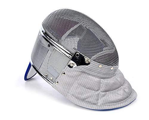 LEONARK Fencing Saber Mask CE 350N Certified National Grade Masque (Grey_Detachable, - Mask Sabre