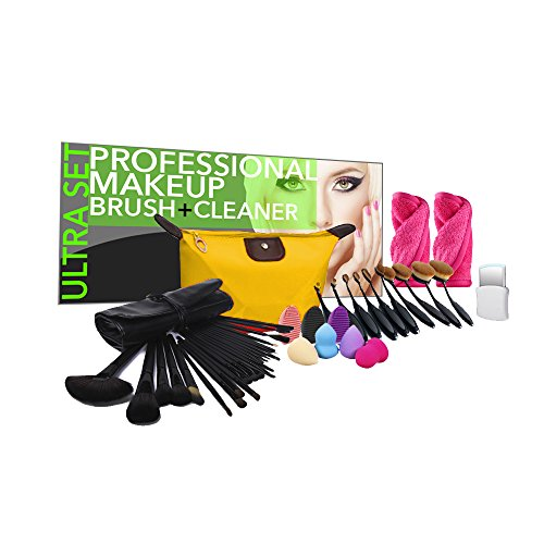PU Beauty 45-Piece Studio Makeup Brush and Cleaner Ultra ...