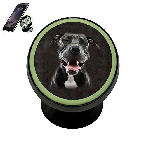 MNMN Bracket Pitbull Dog Portrait Magnetic Phone Car Mount H