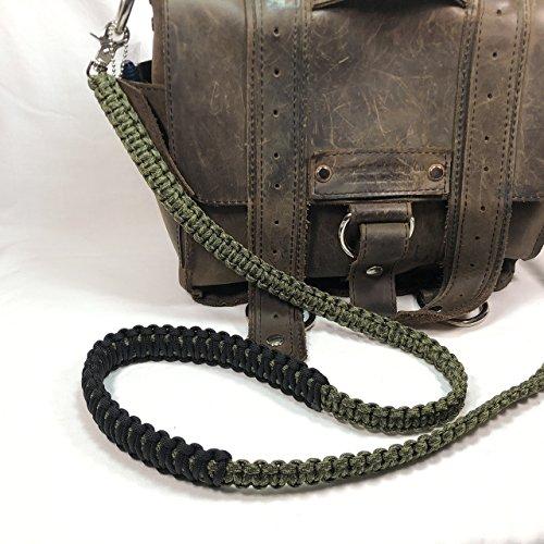 Olive Drab and Moss Green Camo Paracord Cross Shoulder Strap, Handbag, Satchel Strap, Duffel Bag -
