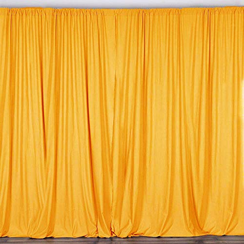 AK TRADING CO. 10 feet x 8 feet Polyester Backdrop Drapes Curtains Panels with Rod Pockets - Wedding Ceremony Party Home Window Decorations - - Opaque Panels