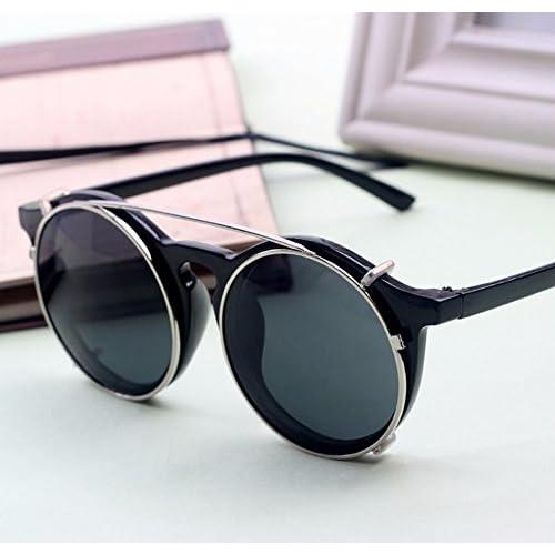 22b77d0d25 Aprigy - Gafas de sol para hombre, estilo vintage, redondas, estilo  steampunk,
