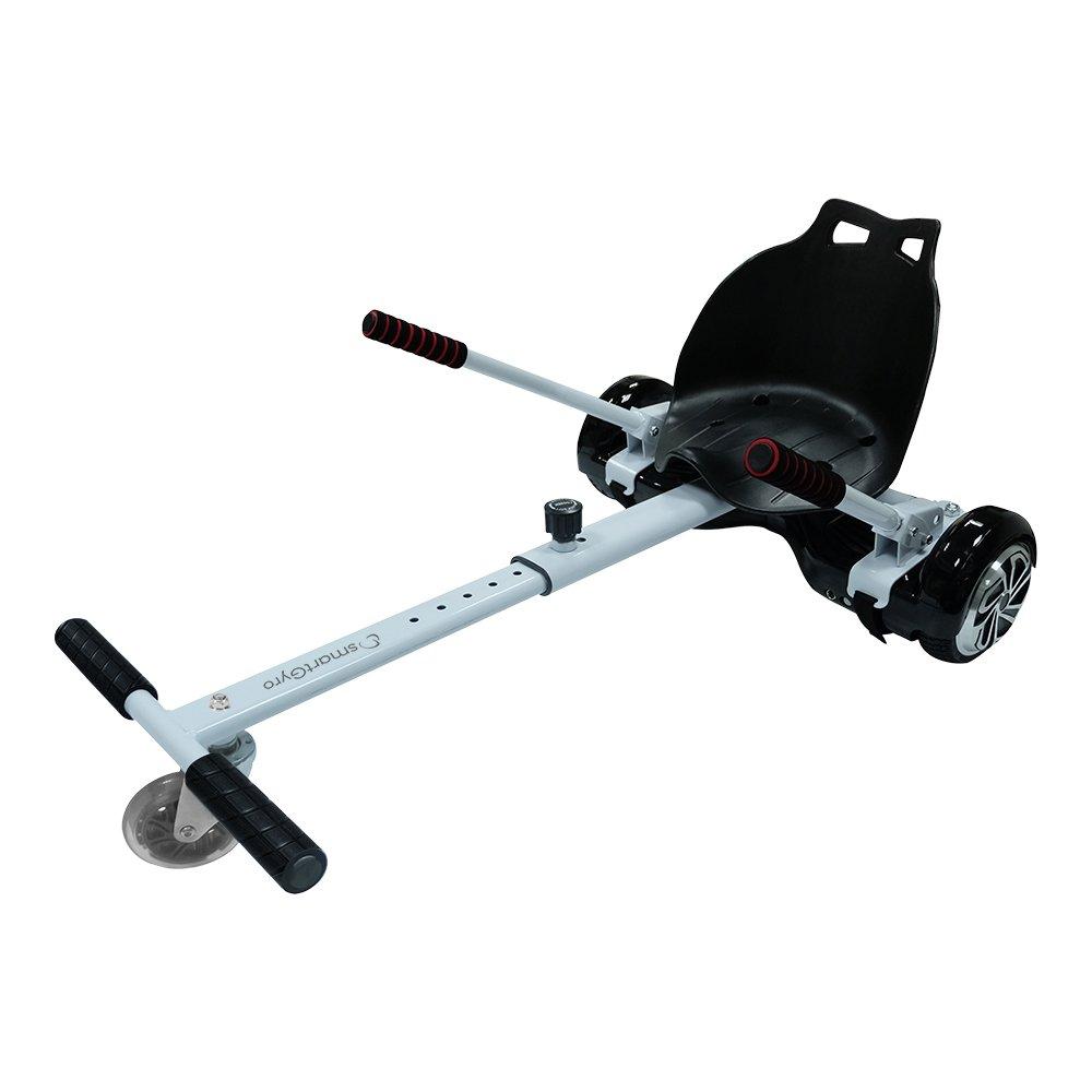 SmartGyro Go-Kart PRO White, Supporto Adattabile per Monopattino Elettrico Hoverboard, Taglia Unica, Unisex Adulto Sport e Tempo Libero, Bianco, X/XL SG27-037