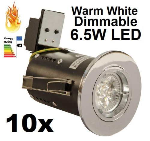 10 X 5W DIMMABLE LED DOWNLIGHT SPOTLIGHT FIXED DIE CAST 240V
