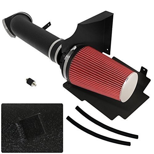 High Flow Induction Air Intake System+ Heat Shield Piping Kit For Escalade Avalanche Suburban Silverado 1500 2500 3500 Sierra Denali Yukon 4.8L 5.3L 6.0L V8 Cold Air Intake Heat Shield
