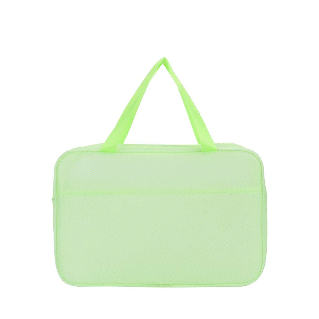PLENTOP Purses for Women,Large Purse,Men's and Women's Rule Travel Bags,Wash Bags, Dry and Wet Bags, Separate Bags Green