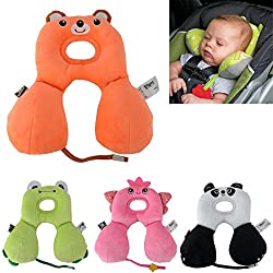 AMAZZANG-Baby Travel Car Animal Seat Pillow Stroller Cushion Head Neck Support Headrest