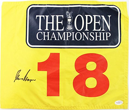 Gary Player Pga Golf Authentic Signed Us Open Flag Autographed JSA #F77007