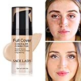 Pro Full Cover Liquid Concealer, Waterproof Smooth Matte Flawless Finish Creamy Concealer Foundation for Eye Dark Circles Spot Face Concealer Makeup, Size:6ml/0.20Fl Oz (05.Honey 12ml)