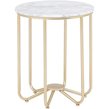 Sensational Amazon Com Wrought Iron Side Table Round End Table Marble Dailytribune Chair Design For Home Dailytribuneorg