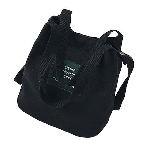 a24514ab5074 Women Canvas Shoulder Bag, Tote Handbag Mini Single Crossbody Messenger Bag  Long Strap Shopping Bag Pouch Multi-Color