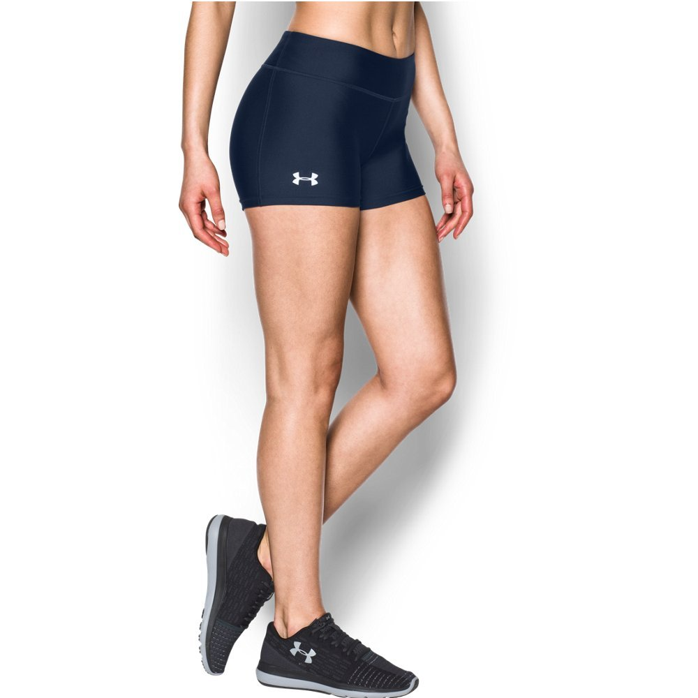 Under Armour Women's On The Court 3'' Shorts,Midnight Navy /White, X-Small