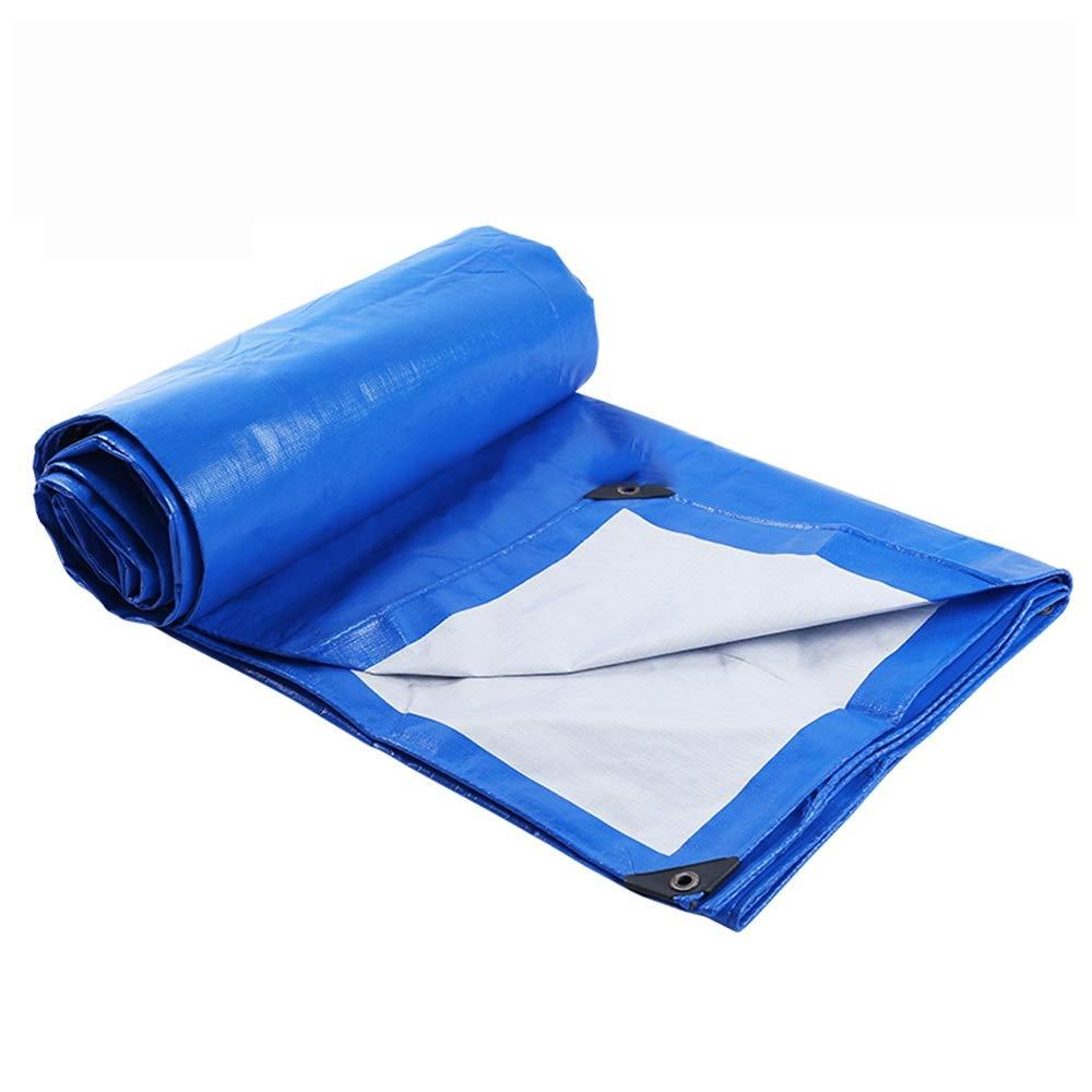 Wasserdichte Plane, blauer und weißer Plastikverdickungslichtschutzregensicherer wasserdichter LKW-Regensonnenschutzdreiradponcho