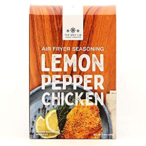 The Spice Lab Air Fryer Seasoning – Panko Lemon Pepper Chicken 8.8oz 4 Pack – Ultimate Air Fryer Accessories – Perfect…