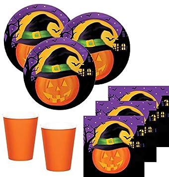32 Teile Kleines Fingerfood Halloween Deko Set Lustiger Kürbiskopf 8