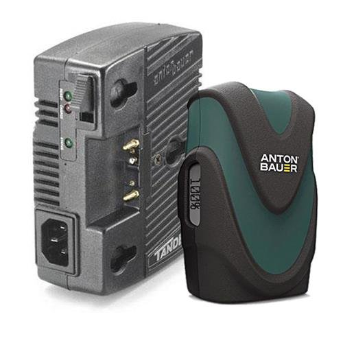 Anton Bauer Tandem 70 Gold Mount Single-Position 70 watt InterActive Battery Charger, On-Camera AC Adapter - Bundle with Anton Bauer Digital 90 Lithium-Ion Gold Mount Battery, 14.4V, 89Wh by Anton Bauer