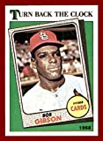 1988 Topps #664 Bob Gibson ST. LOUIS CARDINALS 1968 TURN BACK THE CLOCK