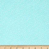 Riley Blake Designs Pixie Noel Snow Aqua Fabric by The Yard