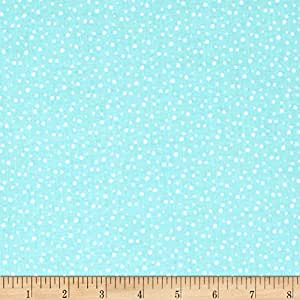 Riley Blake Pixie Noel Snow Aqua Fabric By The Yard