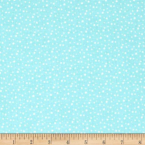 Riley Blake Designs Pixie Noel Snow Aqua Fabric by The Yard by Riley Blake Designs